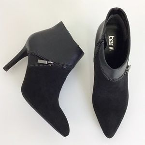 Bar III 5.5 Black Festa Ankle Booties